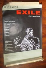 Musicians in Exile 1990 POSTER Holender Hugh Masekela Cuba Chile South Africa