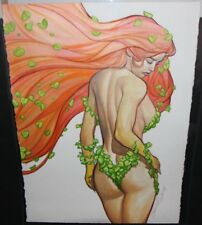Poison Ivy from Behind Painting - La - 2014 Signed art by Brandon Peterson
