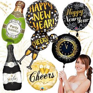 FOLIENBALLONS SILVESTER - Luftballons Ballon Party Deko Happy New Year Neujahr
