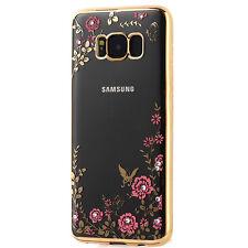 Custodia cover Luxury Diamond gold per Samsung Galaxy S8+ S8 Plus G955F fiori