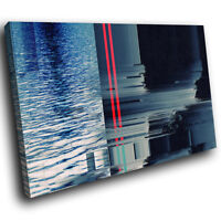 AB1675 Retro Black Red Cool Modern Abstract Canvas Wall Art Large Picture Prints