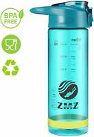 Sports Water Bottle with Straw,25oz Wide Mouth BPA Free Tritan Water Bottle with