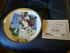 1990 Willie Mays Signed Collectors Plate with COA.
