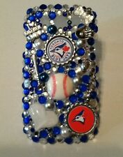 Toronto Blue Jays bling case 4 iPhone 4s,5,5s,5c,6,Samsung Galaxy S3,S4&S5