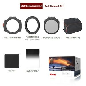 Haida 100mm Red Diamond Enthusiast II Kit w/ M10 Filter Hoder + 3 Filters