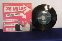 """The Four Preps, 26 Miles, Capitol Records EAP 1-1015, 7"""" 45 RPM EP, Doo Wop, Pop"""