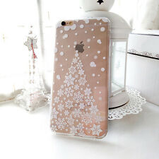 Cartoon Princess Snowflake Clear TPU Soft Cover Case For iPhone 5S 6 6S 7 Plus