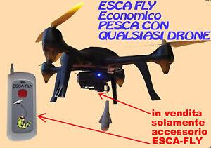 ESCAFLY CREA DRONE DA PESCA SURFCASTING Parrot Hubsan xiaomi zino DJI Phantom 3