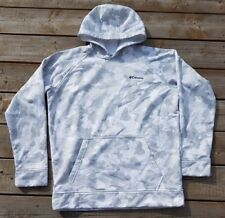 COLUMBIA White Camo Hoodie Pullover Fleece Lined Sweater Women Sz XL