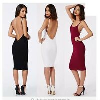 Sexy Women's Backless  Spaghetti Strap Clubwear Cocktail Party Bodycon Dress 8C