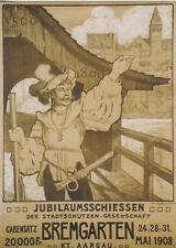 Original Plakat - Bremgarten - Jubiläumsschiessen - Aargau