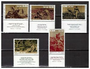 S30000) Israel MNH 1976 Pioneers 5v