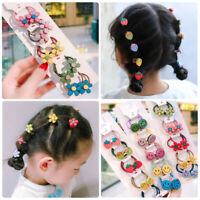 5X Cute Flower Elastic Rubber Hair Rings Band Scrunchies Hair Decor Accessories