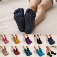 Women Sports Yoga Socks Anti-slip Five Fingers Socks Ballet Fitness Cotton Socks