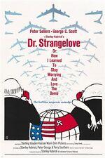 stanley kubrick's DR. STRANGELOVE movie poster 1964 PETER SELLERS 24X36