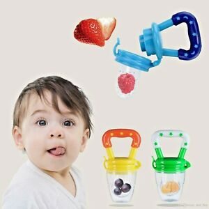Baby Feeder Pacifier Food Feeding Fruit Fresh Silicone Teether Soother Nibbler