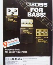 retro magazine advert 1987 BOSS FOR BASS