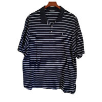 Men's Polo Golf Ralph Lauren Pullover Shirt Size XXL Short Sleeve Navy White