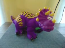 1999 Fisher Price Purple Dinosaur Dino Roars Triceratops vintage doll squeeze