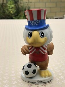 Vintage 1984 Los Angeles Olympic Games SOCCER Sam The Eagle Figurine By Papel PO