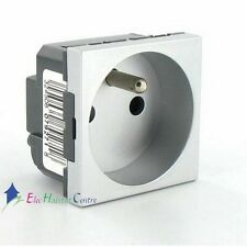 Enchufe toma de corriente mosaico 2P+T 16A alu Legrand 79271