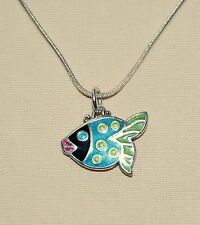 New, cute, colorful custom BRIGHTON 'Sea Love' FISH necklace !  FREE SHIPPING !!