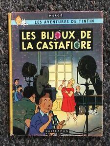 Hergé Tintin Les Bijoux de la Castafiore B34 EO Française 2ème trimestre 1963.