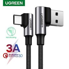 Ugreen 3A USB Type C Cable Angled Fast Charge Cord Fr Samsung S9 Nintendo Switch