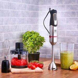 HESKA Hand Blender 1000W Food Mixer Processor Whisk Handheld 3 in 1 Black
