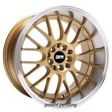 "Set4 17"" STR Wheels 514 Gold JDM Style Rims"