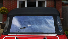 DIY REPAIR ZIP WINDOW CLEAR MATERIAL CLASSIC CONVERTIBLE SOFT TOP TRIUMPH STAG +