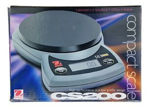 NEW Open Box  Ohaus  CS200   Digital Compact Bench Lab Scale  Ounces Grams FAST!