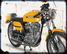 Ducati 350 Desmo 70 1 A4 Metal Sign Motorbike Vintage Aged