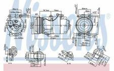NISSENS Compresseur de climatisation pour FORD C-MAX 890090 - Mister Auto