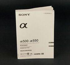 Sony Alpha a500 / a550 originale Anleitung italienisch und französisch 03845