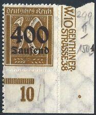 """MiNr. 299 vom Plattenunterrand mit Vorstufe von Plf. """"IV"""" und Bogenverschnitt"""