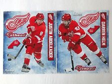 """FATHEAD 2014 Helm & Abdelkader 9"""" Detroit Red Wings Player Poster Stickers SGA"""