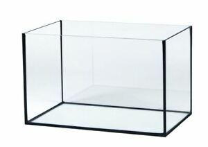 Aquarium Glasbecken SCHWARZ  Wasser Fisch Tank Top & Neu Viele Größen
