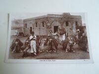 Vintage RP Postcard CARAVAN AT REST, ADEN (Camels Yemen Middle East)      §A864
