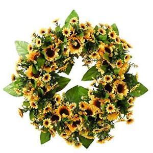 Artificial Sunflower Wreath, Front Door Wreath ,Fall Wreath,Wreath with