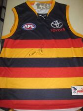 "ADELAIDE- TAYLOR ""TEX"" WALKER SIGNED ADELAIDE CROWS JERSEY/JUMPER + COA"