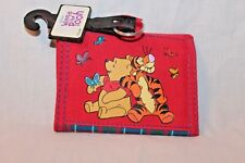 NEW WITH TAG WINNIE THE POOH KIDS TRIFOLD  COIN WALLET  RED FLOWERS