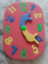 Creative Play Eva Learning Clock Puzzle 4 Colours