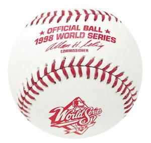 1998 WORLD SERIES RAWLINGS OFFICIAL MLB BASEBALLS NEW IN BOX YANKEES vs PADRES