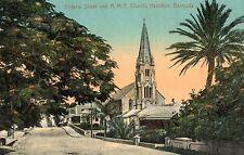 Hamilton,Bermuda,Victoria Street & A.M.E.Church,c.1909