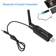 USB Bluetooth V4.0 Transmitter Wireless 3.5mm Audio Dongle Adapter for TV PC