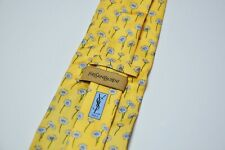 100% Authentic YSL Yves Saint Laurent 100% Silk Tie cravatte Made in Italy