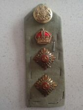 WW1 British Colonel epaulette crown pips & button . (B19)
