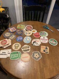 Vintage Beer Advertising Coasters Iron City Heineken Fosters Carlsberg Many