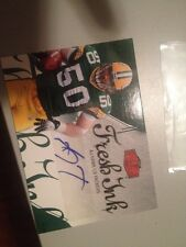 2006 Flair Showcase AJ Hawk Fresh Ink Auto Autograph Insert Card # FI-AH